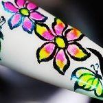 Floral Spring Garden Foil Nail Art