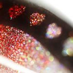 Glitter Color Stencil Hearts Gradient Ombre