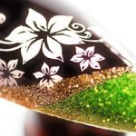 Glittering Floral Vine Stamping Nail Art